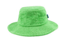 Terry Towelling Bucket Hat-Wide Brim Green Summer Beach Camping