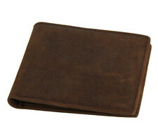 Vintage Mens Genuine Leather Bifold Short Wallet Credit Card Holder Clutch Purse