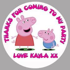 PEPPA PIG GEORGE PERSONALISED NAME BIRTHDAY PARTY STICKERS THANK YOU LABELS