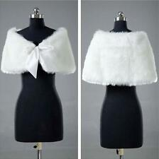 Bridal shawl ivory faux fur wedding dress Bolero wrap cape shrug jacket Tippet