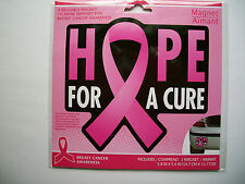 "Breast Cancer Awareness Car/Refrigerator/Locker ""HOPE FOR A CURE"" Magnet"