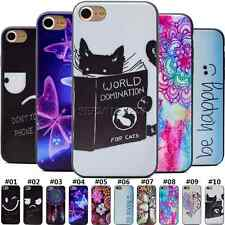 Patterned Silicone TPU Soft Shell Back Various Skin Case Cover For Apple iPhone