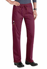Dickies Medical Scrubs Women's Essence Wine Straight Leg Pants Sz XS-XXL NWT
