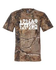 I Plead the 2nd. Amendment w/ Bullet Holes RealTree Camouflage Men's Tee Shirt