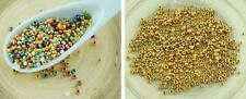 20g Mixed Size Metallic Gold Czech Glass Round Seed Beads PRECIOSA Pearls Rocail