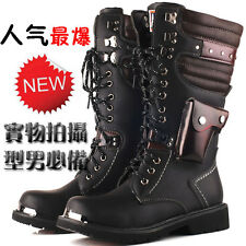 2016 BAND ROCK-TOP PUNK Fashion MEN COOL Western Motorcycle ARMY long boot US12