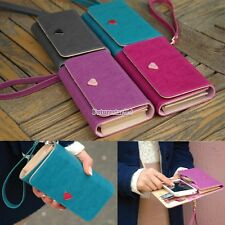 Leather Multifunction Envelope Case Purse Wallet For Samsung Galaxy Iphone FT