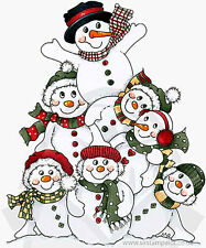 Molly Blooms rubber stamps Christmas Snowman Snowflakes Snowmen Frosty cute
