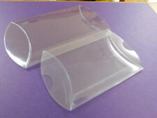 12 Clear PVC Luxury Pillow boxes-Wedding favour,Xmas, Sweets no decs/contents