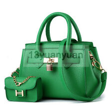 Women's Fashion Casual PU Leather Messenger Shoulder Bag/Handbag Tote