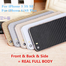 Full Body 3D Carbon Fiber Cover Sticker Screen Protector Wrap Skin For iPhone