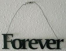 """FOREVER """"Words to Live By"""" Wall Art Hanging Metal Sign"""