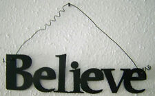 "BELIEVE ""Words to Live By"" Wall Art Hanging Metal Sign"