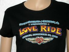 New! HARLEY-DAVIDSON *Love Ride 23* Black GLENDALE, CALIF Tee T-Shirt SZ S NWT!