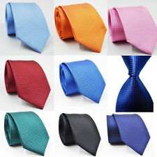 Fashion New Classic Checks Jacquard Woven Silk Men's Tie Necktie Wedding Party