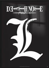 DEATH NOTE - FRAMED MANGA / ANIME TV SHOW POSTER / PRINT (LOGO / L)