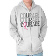 Breast Cancer Awareness Courage Pink Ribbon Beat Cancer Gift Zipper Hoodie