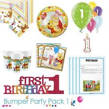 Winnie the Pooh 1st Birthday Party Tableware Bumper Pack 1