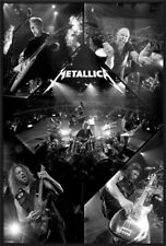METALLICA - FRAMED MUSIC POSTER / PRINT (LIVE ON STAGE - PHOTO COLLAGE)