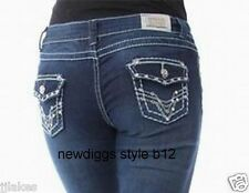 Skinny Leg Stretch Jeans Stones Embroidered Bling Size 0 1 3 5 7 9 11 13 15