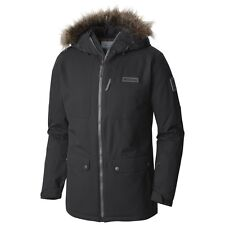 COLUMBIA CATACOMB CREST INSULATED PARKA JACKET MENS BLACK WATERPROOF NEW