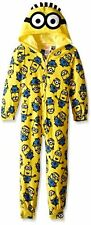 Despicable Me Minions Hooded Blanket Sleeper Pajamas Size 6 or 8  NWT