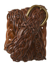 aeropostale womens woven braided belt cognac