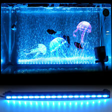 Aquarium 47CM 18LED 5.2W Flood Bubble Light Stip 24 Keys RC Remote Fish Tank