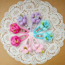 8pcs/lot Flowers Kids Baby Toddler Girls Hair Clip Barrettes Hair Accessories