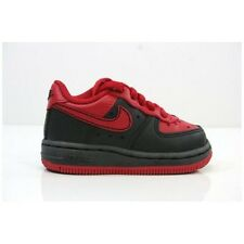 Nike Force 1 TD 314194 028 New Toddlers Baby Infant Red Black Shoes Size 2