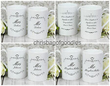PERSONALISED MR and MRS MUGS Gifts for COUPLE Mum and Dad Wedding Christmas Xmas