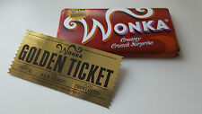 Willy Wonka Chocolate Bar Wrapper and Golden Ticket *option to personalise*
