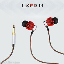 LKER i1 High Definition Dual Dynamic In-ear Headphone Earphone Noise-canceling