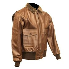 Leather US Navy G-1 Flight Jacket Brown Flight Bomber Jacket S - 6XL