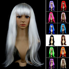 Women Party Fancy Dress Long Layered Wig Cosplay Full Wig Japan Anime Halloween