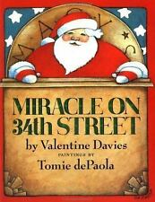 Miracle on 34th Street by Valentine Davies, illust by Tomie dePaola FREE SHIP