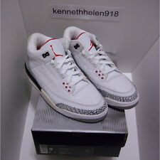 NEW 2003 NIKE AIR JORDAN III 3 RETRO WHITE CEMENT GREY FIRE RED MENS SIZE 9