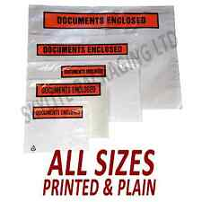A7-A6-A5-A4-DL DOCUMENTS ENCLOSED WALLETS / ENVELOPES Printed & Plain ALL SIZES