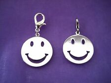 PICK YOUR CHARM Clip On Silver Smiley Emoji Face Smile Charm Emoticons