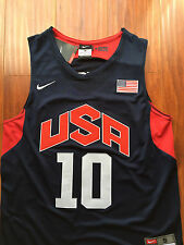 Kobe Bryant #10 London 2012 USA Olympic Dream Team Jersey Sewn/Stitched BLK NWT