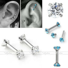 Newest CZ Gem 16G Barbell Ear Cartilage Tragus Helix Stud Earring Body Piercing