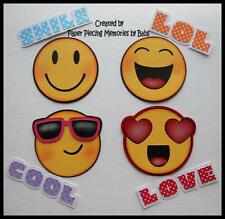 Emoji Set Premade Paper Piecing for Scrapbook Pages by Babs