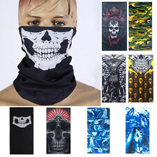 Ski Sports Bicycle Motorcycle Skull Half Face Mask Scarf Multi Use Neck Warmer