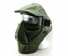Cool Airsoft Paintball Full Face Guard Mask & Goggles & Neck Protect Mask Safety