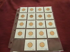 UNC 2cent set 1970,1971, 1972,1973,1974,1975,1976,1977 to 1988,1989 from rolls