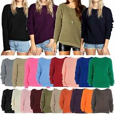 New Ladies Womens Oversized Chunky Sweater Baggy Knitted Jumper Top