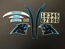 Carolina Panthers Football Helmet Decals Speed Set NFL FULL SIZE CAM NEWTON
