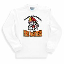 Long Sleeve T-shirt Adult Youth Firefighter Dalmation Dog Tough Reason Called