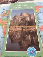 Awesome 1985 Yosemite National Park Map Guide Road Trip Hiking Travel Vacation