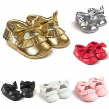 0-18 M Infant Baby Boy Girl Tassel Soft Sole Leather Shoes Kids Toddler Moccasin